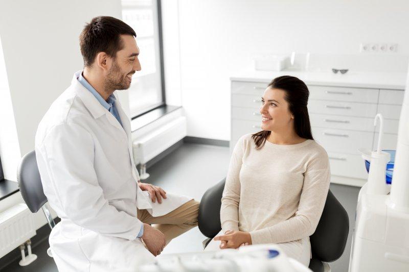 Woman at dental checkup